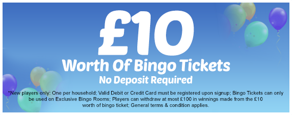 Welcome Bingo no deposit offer