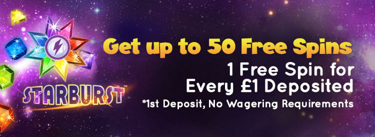 Power Spins - make First Deposit and get 50 Free Spins!